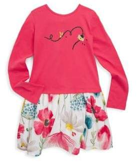 Catimini Little Girl's & Girl's Floral Fooler Dress