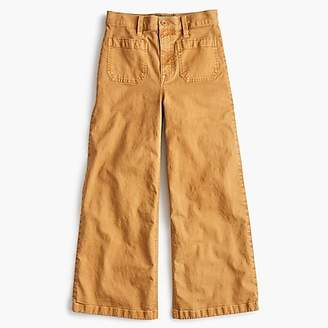 J.Crew Point Sur washed wide-leg crop pant