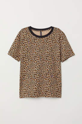 H&M T-shirt with Printed Design - Beige
