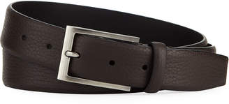 Ermenegildo Zegna Matte Reversible Belt, Dark Brown