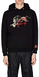 Givenchy Men's Faux-Fur-Lined Cotton French Terry Hoodie - Black