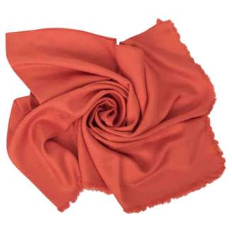 Louis Vuitton Chale Monogram Orange Silk Scarves