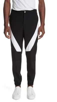 Versace Diagonal Insert Wool Pants