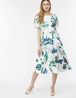 Monsoon Arianna Print Midi Dress