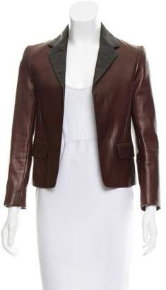 Reed Krakoff Leather Open Front Blazer