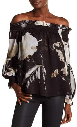 Religion Admire Off-the-Shoulder Printed Blouse