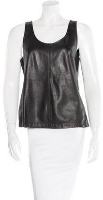 Marc by Marc Jacobs Leather Sleeveless Tank $115 thestylecure.com