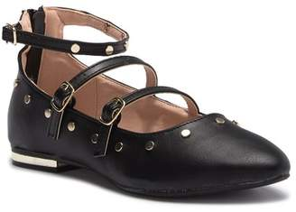 Steve Madden Mosh Studded Ankle Strap Flat (Little Kid & Big Kid)