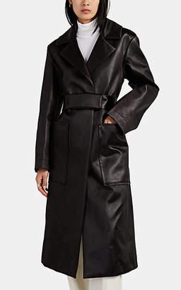 Jil Sander Women's Oversized Satin Belted Coat - Brown