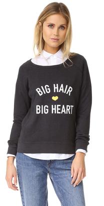 Drybar Big Hair Big Heart Raglan Pullover $53 thestylecure.com