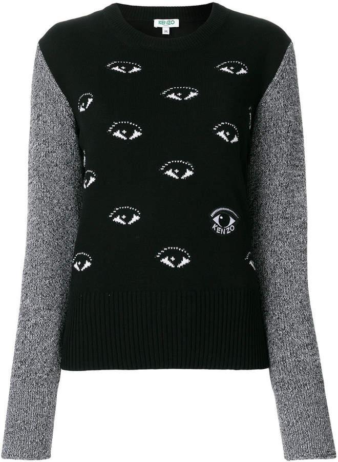 Eyes intarsia jumper