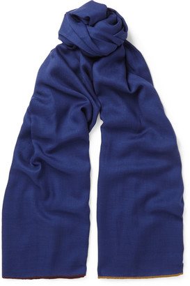 Contrast-Trimmed Cashmere and Silk-Blend Scarf $775 thestylecure.com