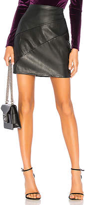 Krisa Paneled Mini Skirt