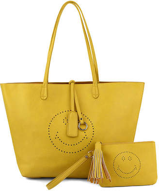 OLIVIA MILLER Olivia Miller Farrah Smiley Perf Tote W Tote Bag