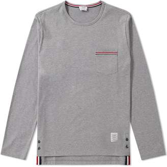 Thom Browne Long Sleeve Medium Weight Jersey Pocket Tee