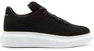 Alexander McQueen Exaggerated Sole Knitted Trainers - Mens - Black