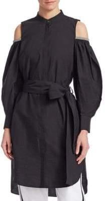 Brunello Cucinelli Cotton Cold-Shoulder Tunic