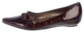 Stuart Weitzman Patent Leather Mary Jane Flats