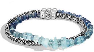 John Hardy Classic Chain Silver Mixed-Stone Wrap Bracelet
