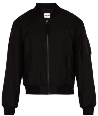 Helmut Lang Bondage Canvas Bomber Jacket - Mens - Black