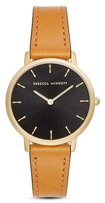 Rebecca Minkoff Major Leather Watch, 35mm