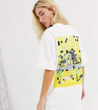 Crooked Tongues oversized t-shirt with Miami beach print