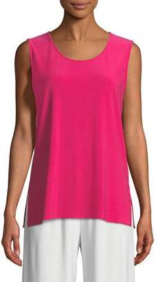 Caroline Rose Sleeveless Long Stretch Knit Tank