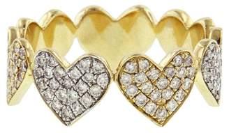 Sydney Evan Large Diamond Pavé Heart Ring