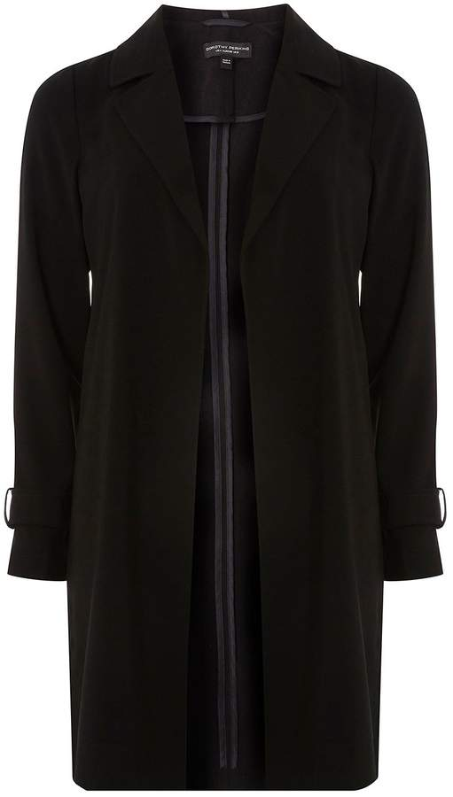 Dorothy Perkins Black Trench Duster Coat