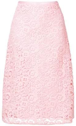 Miu Miu floral crochet midi skirt