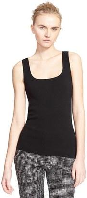 Women's Michael Kors Square Neck Cashmere Shell $795 thestylecure.com