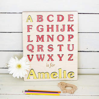 Natural Gift Store My First Alphabet Personalised Puzzle