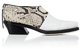 Proenza Schouler Women's Tape-Detail Leather Ankle Boots-White