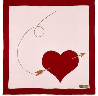 Amber Hagen Heart & Arrow Cotton-Cashmere Baby Blanket