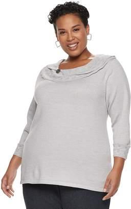 Plus Size Napa Valley Pointelle Sweater
