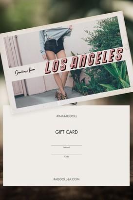 Rag Doll GIFT CARD Ragdoll LA