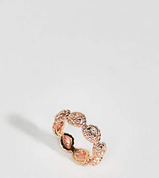 Olivia Burton 18k Rose Gold Plated Vintage Style Flower Rope Ring