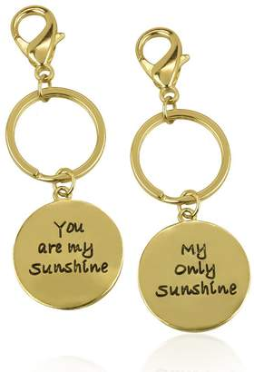 Lux Accessories You Are My Sunshine Only Forever Matching Keychain Set (2 PC)