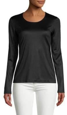 Akris Long-Sleeve Silk Top
