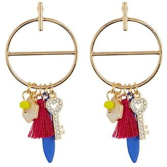 Free Press Charm Frontal Hoop Earrings