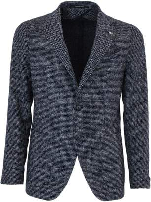Tagliatore Blue Alpaca And Cotton Jacket.