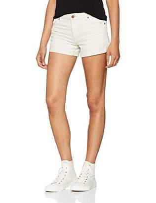 Volcom Women's Hot Pants Stoned Short Rolled White Hot Pants, Womens, B1911801VAN