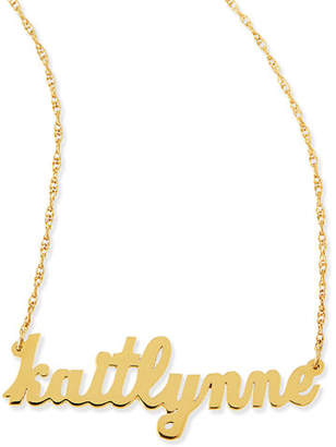 Jennifer Zeuner Jewelry Serafina Personalized Mini Nameplate Necklace