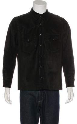 Ralph Lauren Black Label Suede Western Shirt Jacket