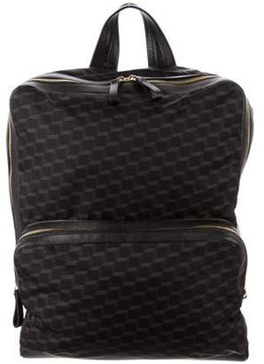 Pierre Hardy Leather-Trimmed Cube Backpack