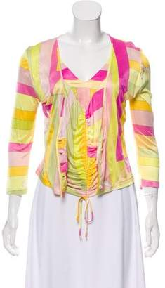 Emilio Pucci Printed V-Neck Cardigan Set