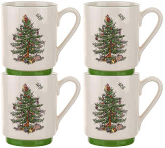 Spode Set Of 4 Stacking Mugs