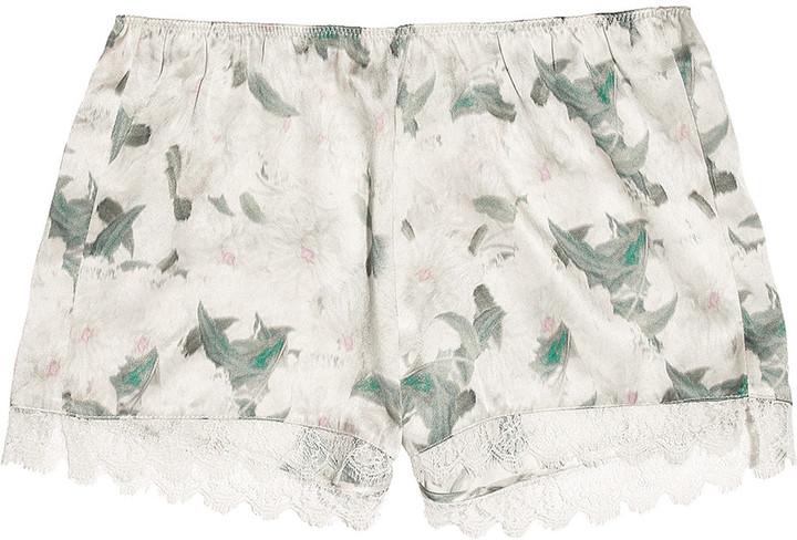 Erdem Catrina floral-print silk-satin shorts