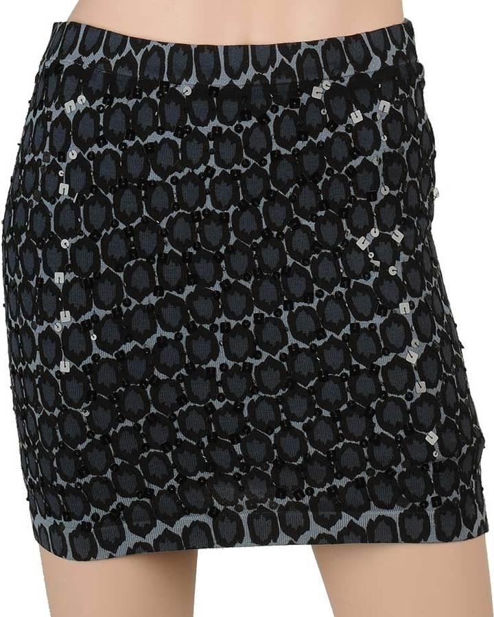 Leopard Knit Mini Skirt