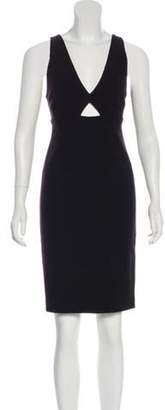 Alice + Olivia Sleeveless Midi Dress Black Sleeveless Midi Dress